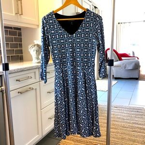 CYNTHIA ROWLEY Fit & Flare Sweater Knit Dress